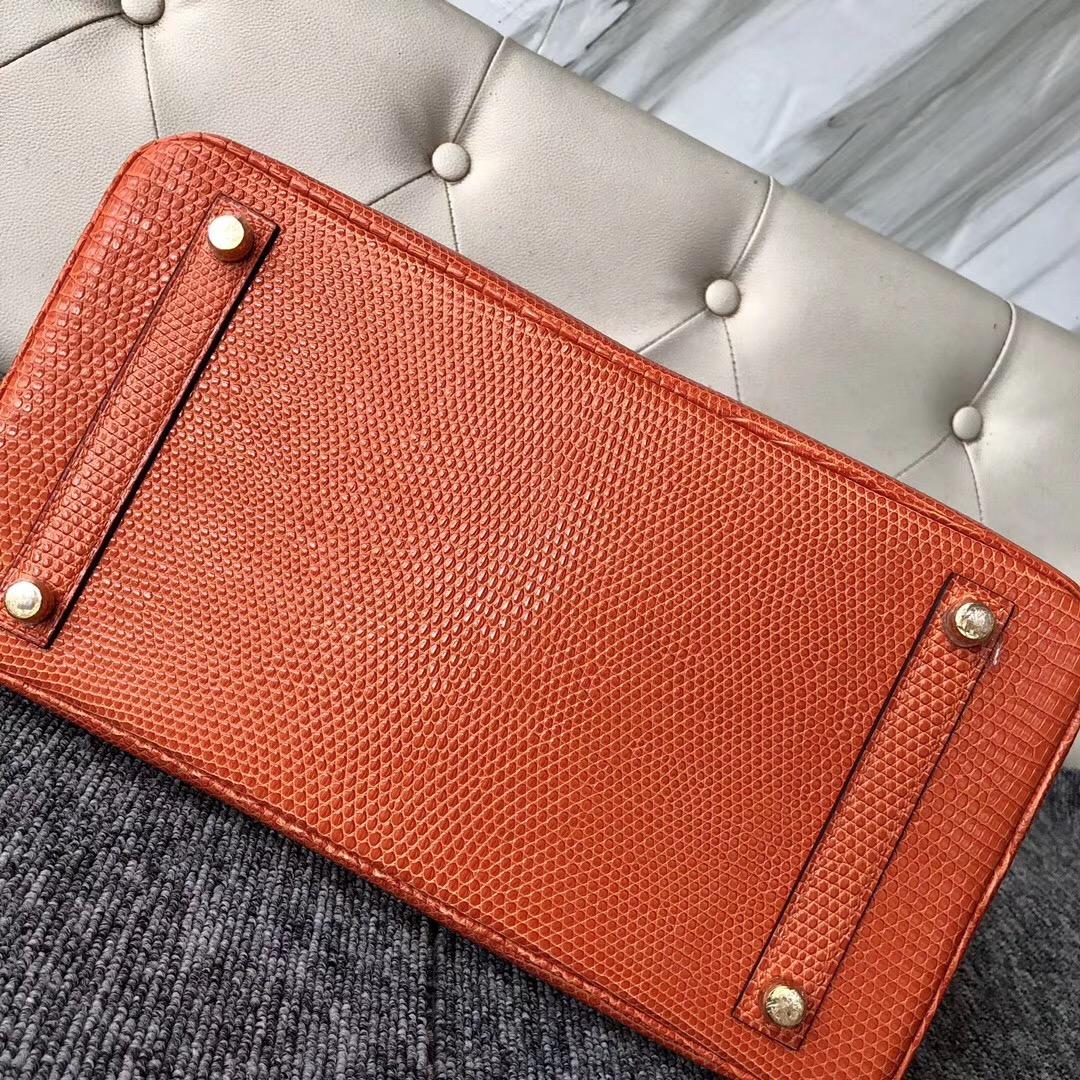 新澤西州愛馬仕鉑金包 New jersey USA Hermes Birkin 30cm CK93 Orange Lizard