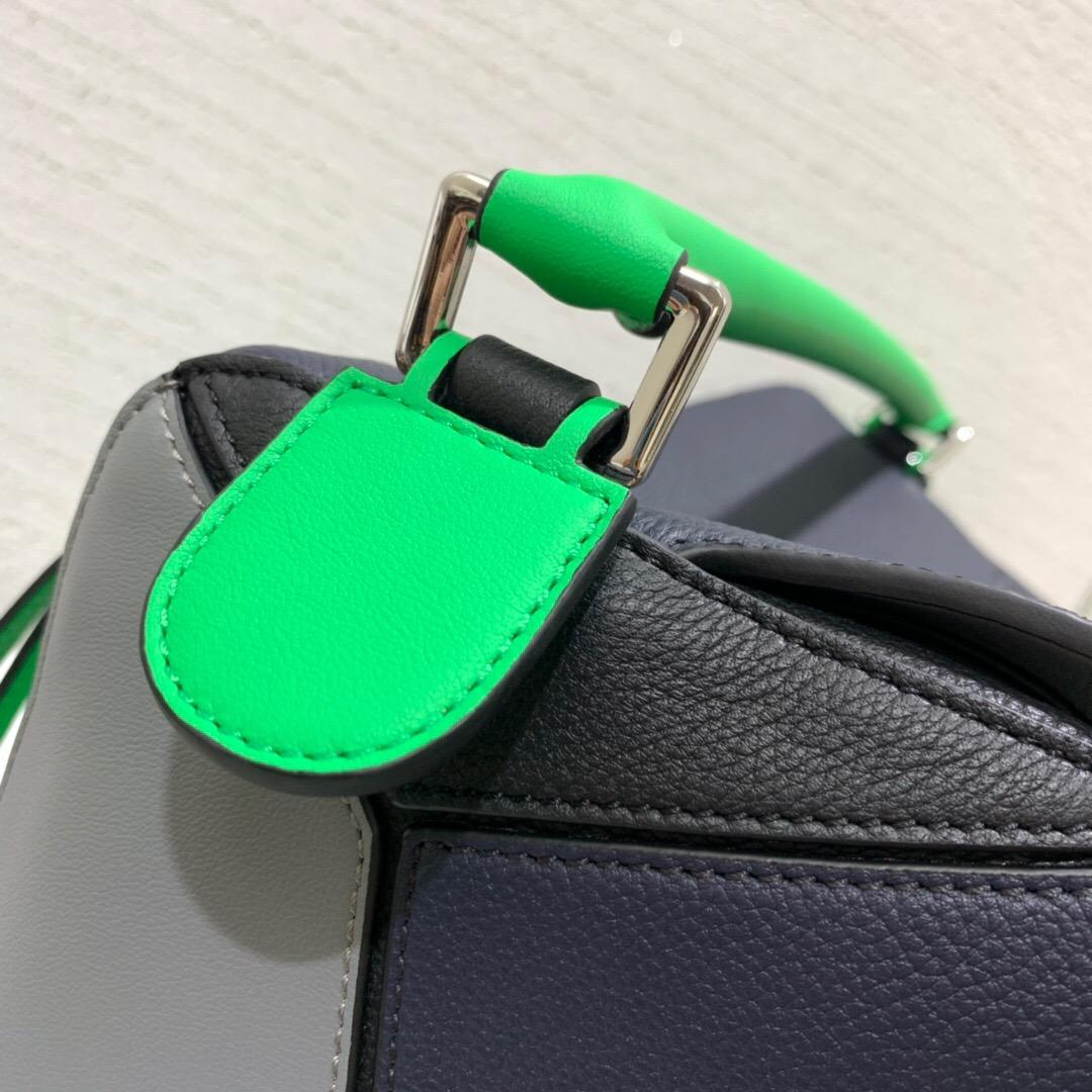 臺灣羅意威官網 LOEWE 大號 Puzzle Large Bag Deep Blue/Green