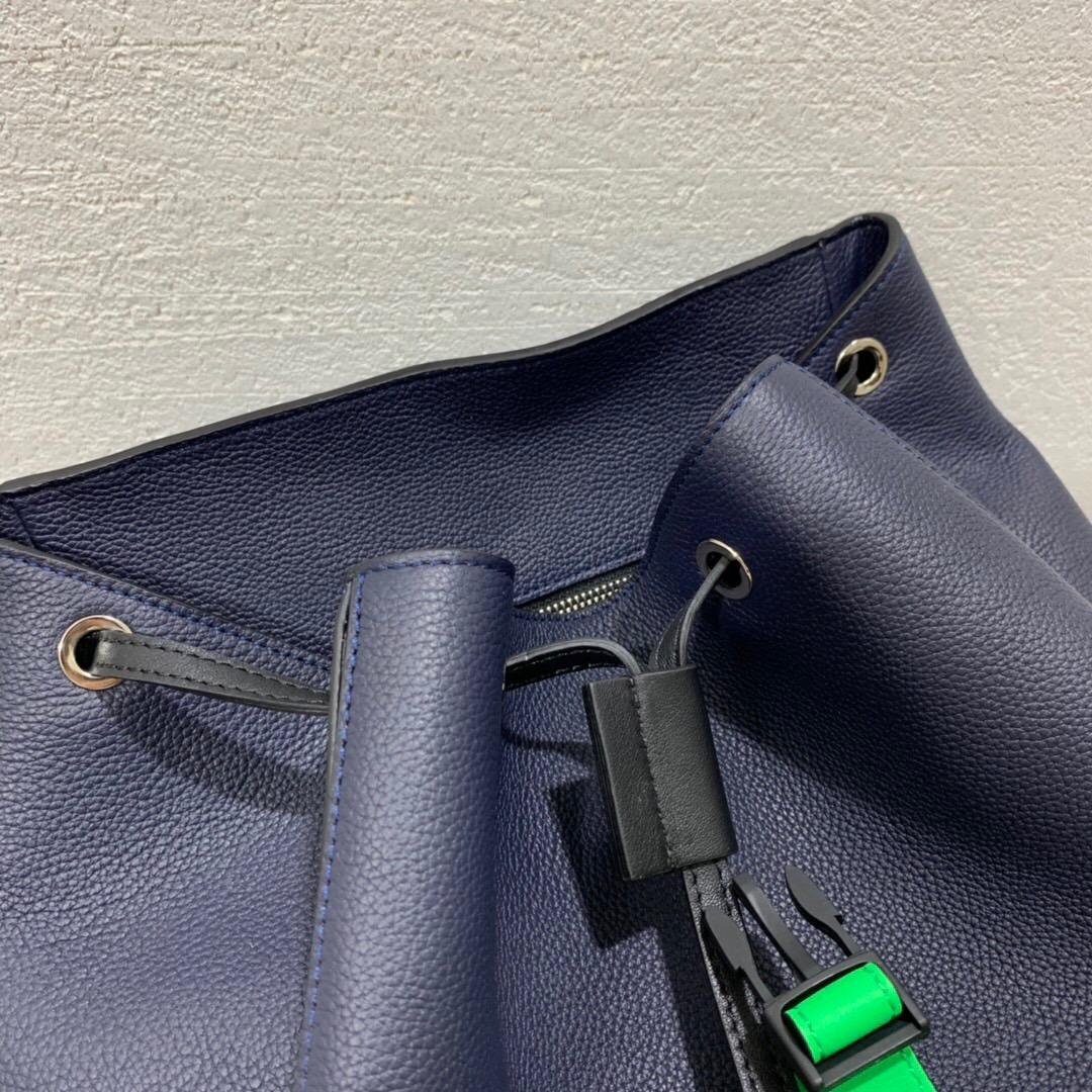 羅意威幾何雙肩包價格及圖片 LOEWE Puzzle Backpack Deep Blue/Green