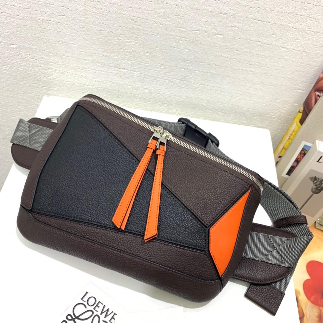 臺灣臺中市羅意威 LOEWE Puzzle Sling Chocolate Brown/Orange