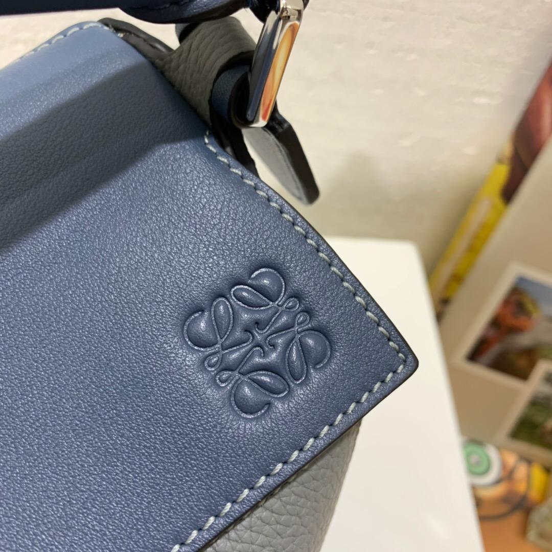 2019秋冬新品 LOEWE Puzzle Small Bag Steel Blue/Tan