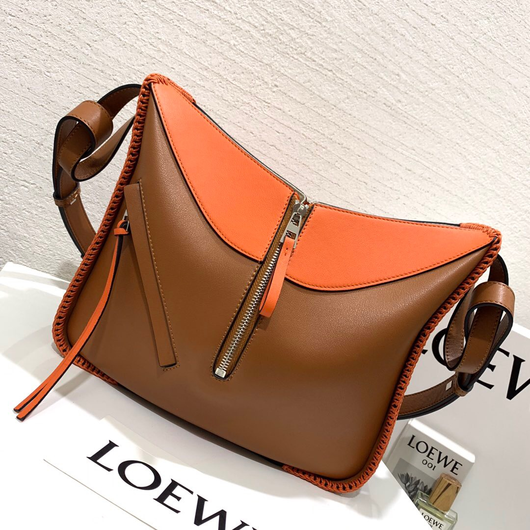 香港九龍城區羅意威官網 Hammock Whipstitch Small Bag Tan/Orange