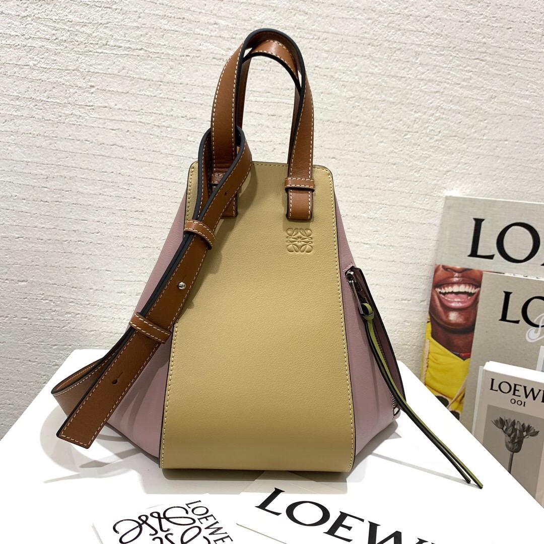 臺灣羅意威新款包包圖片 Loewe Hammock Small Bag lilac/gold