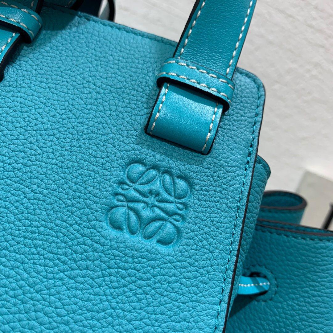 臺灣羅意威吊床包 臺灣價格 Loewe Hammock Drawstring Mini Bag Lagoon Blue