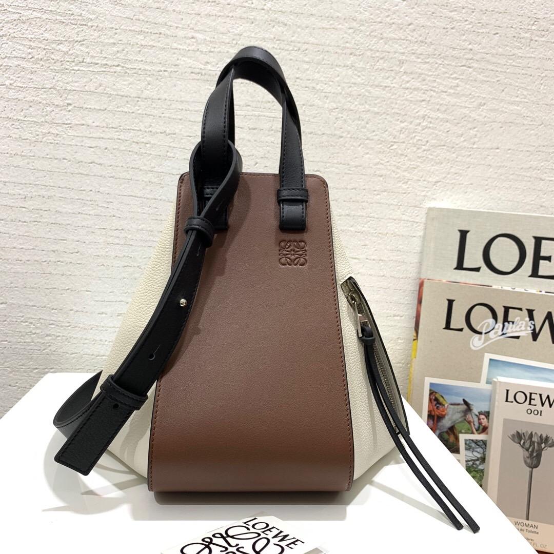 羅意威女包價格官網 Loewe Hammock Small Bag Black/Brunette