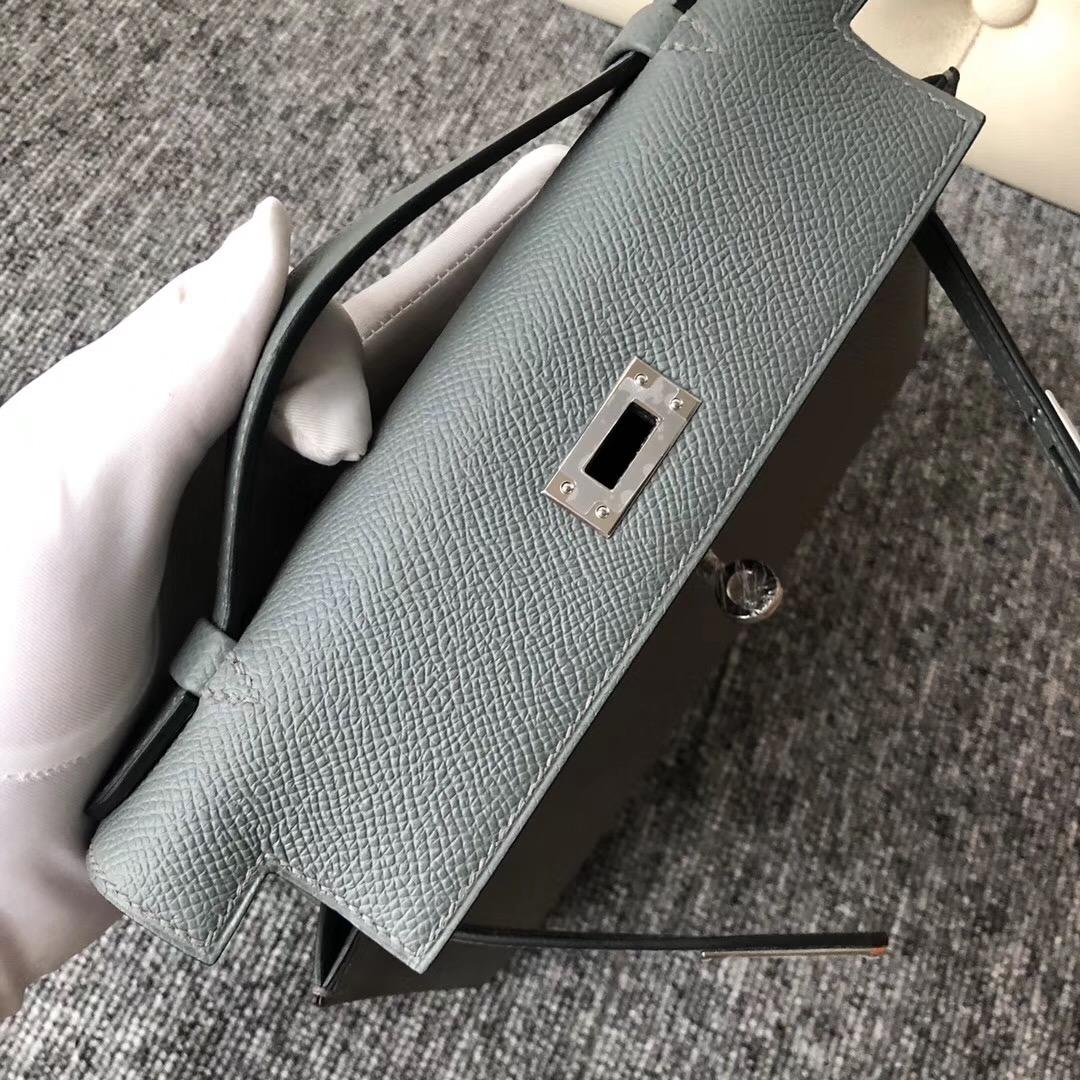 Melbourne Australia Hermes MiniKelly Pochette CC63杏綠色 Vert Amande