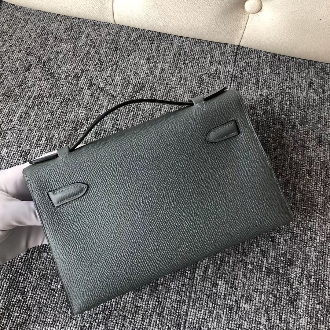 Washington State USA Hermes MiniKelly Pochette CC63 Vert Amande 杏綠色