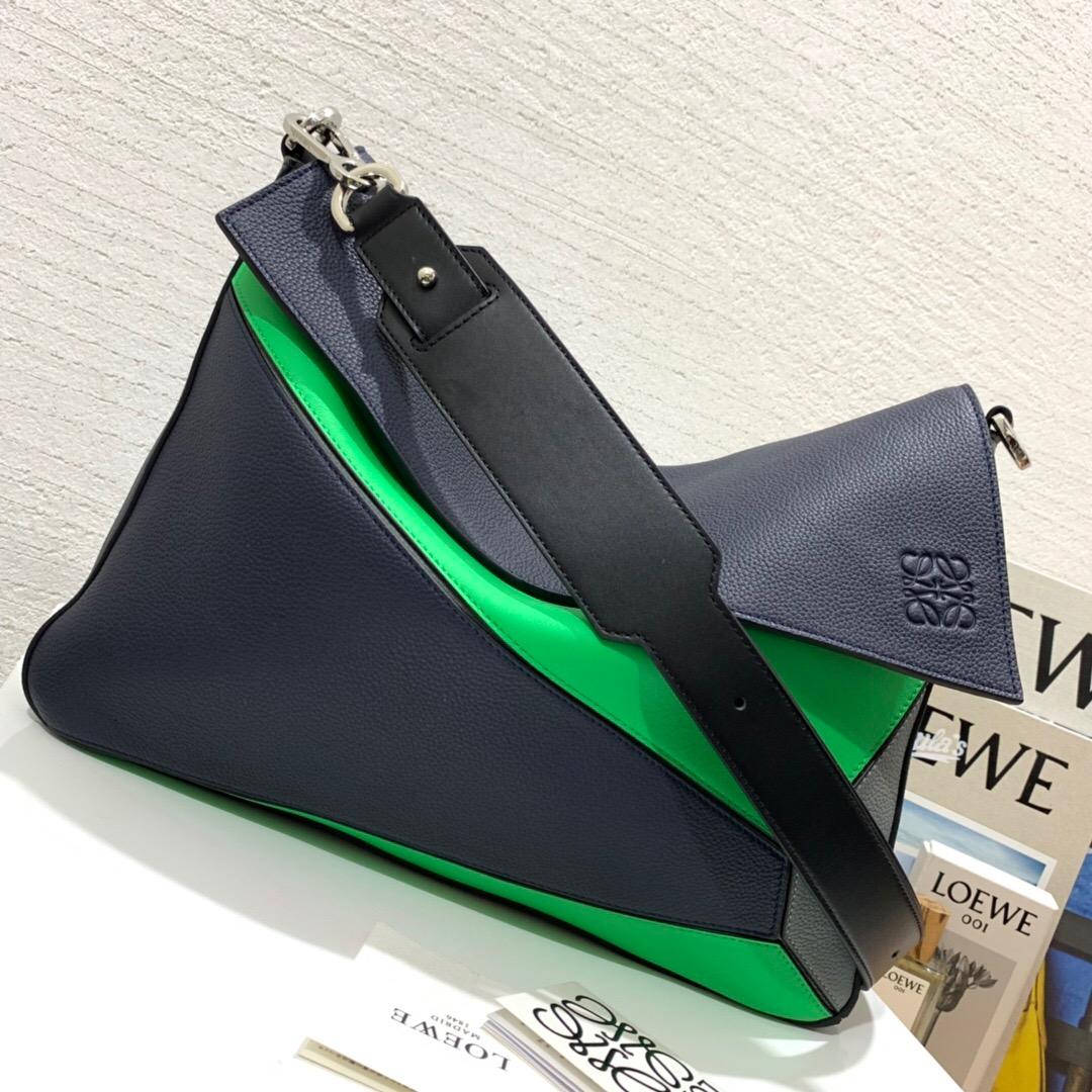羅意威郵差包價格 LOEWE Puzzle Messenger Bag Deep Blue/Green