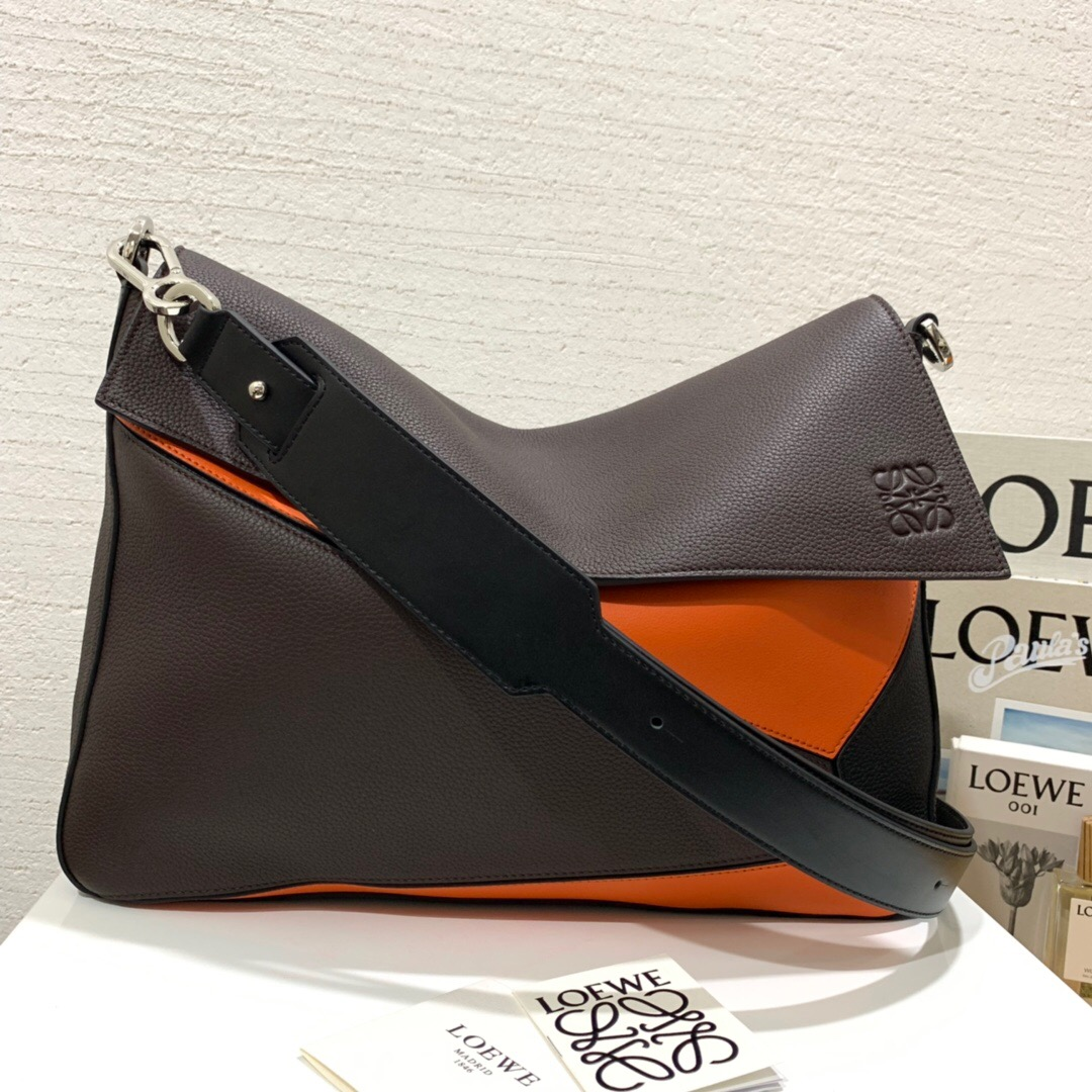 羅意威郵差包LOEWE Puzzle Messenger Bag Chocolate Brown/Orange