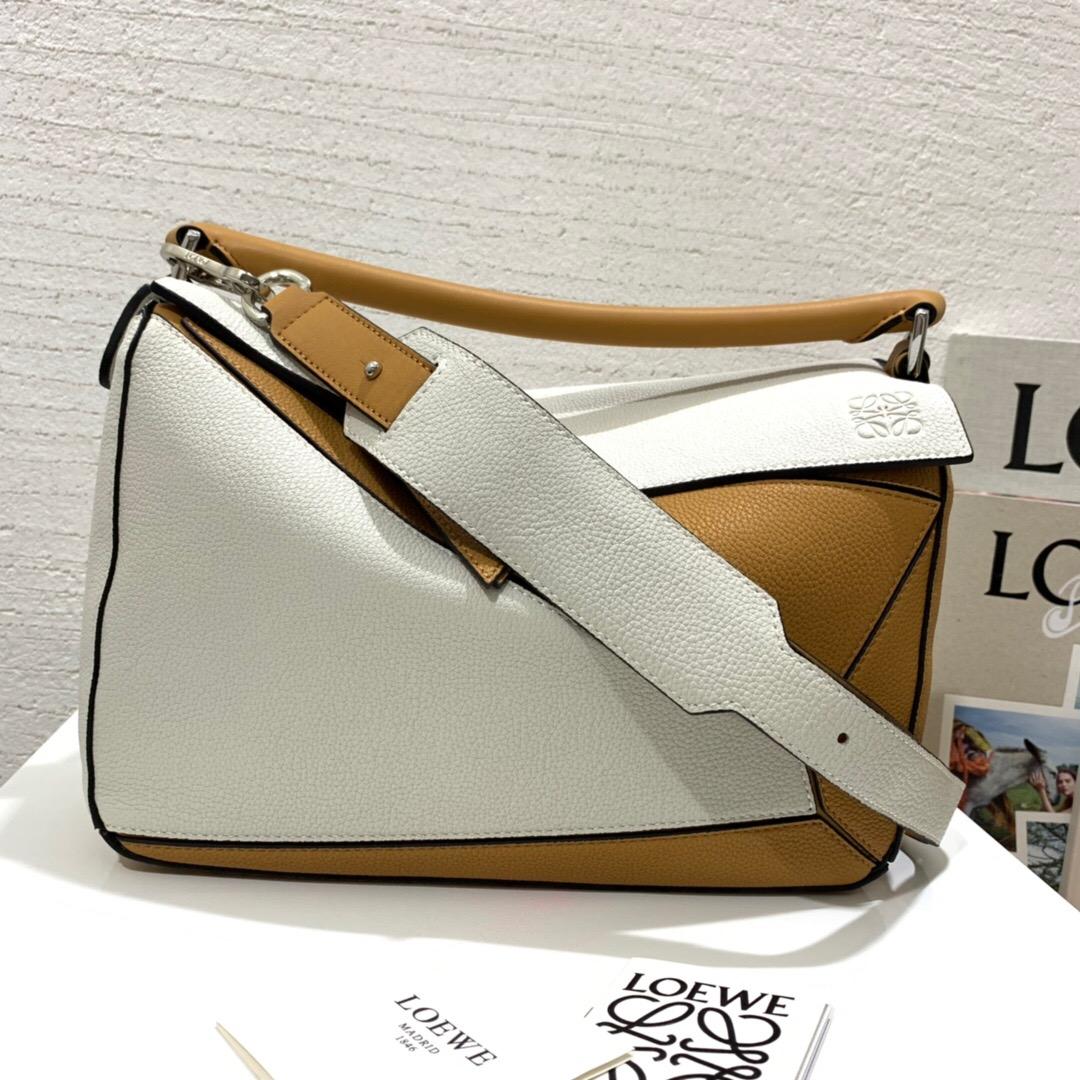 羅意威幾何包中號尺寸大小 價格和圖片 loewe Puzzle Small Bag