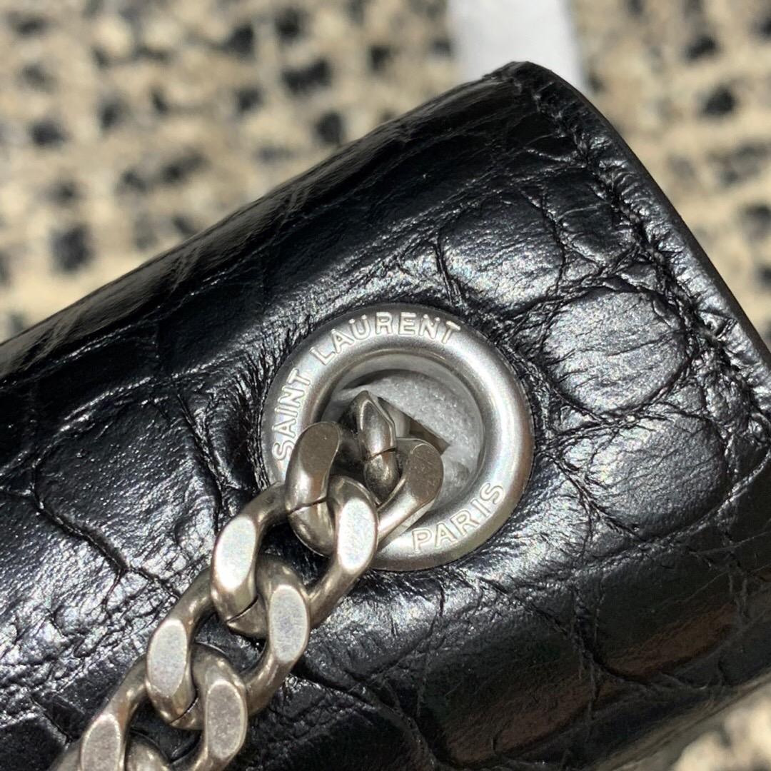 聖羅蘭 YSL 354119 MONOGRAMME SAINT LAURENT 中號流蘇鱷魚紋手袋