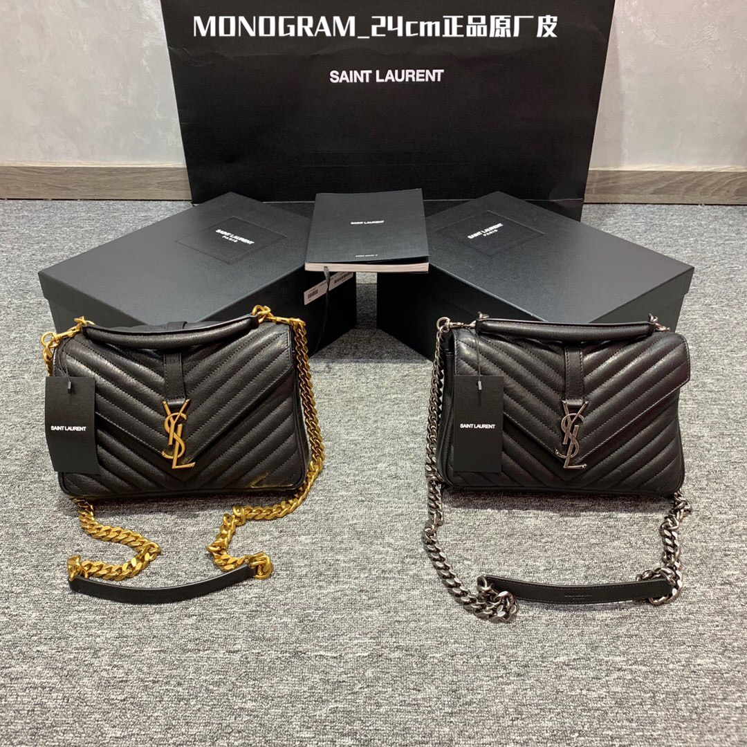 香港ysl包包價格和圖片 Monogramme College 428056 女士單肩包