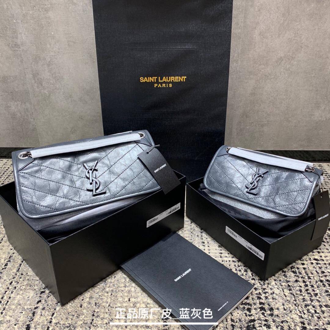 香港九龍城區聖羅蘭包包官網價格 YSL NIKI 中號復古褶皺真皮包