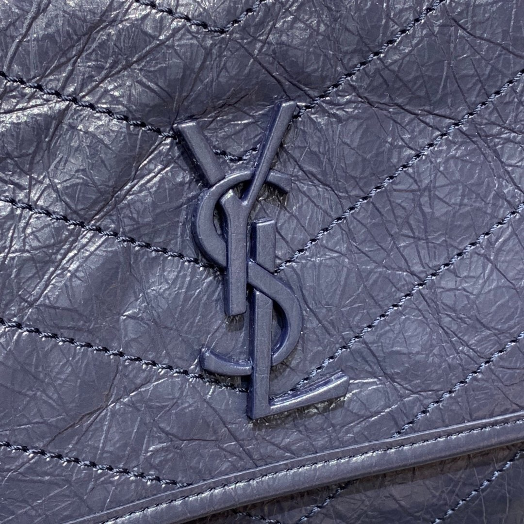 聖羅蘭中號NIKI鏈條包 YSL NIKI MEDIUM BAG IN CRINKLED VINTAGE LEATHER