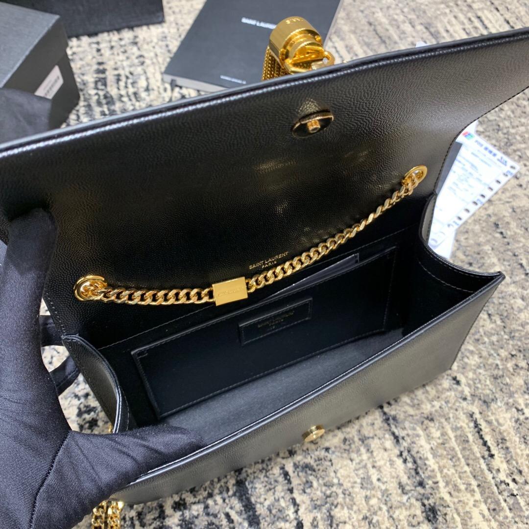 聖羅蘭臺灣官網 YSL 經典中號KATE MONOGRAM黑色流蘇手袋
