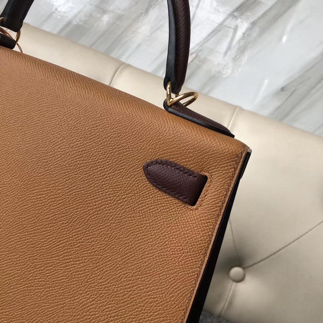 桃園市凱莉包價格 Hermes HSS Kelly 28cm CK37金棕色/CK57波爾多酒紅