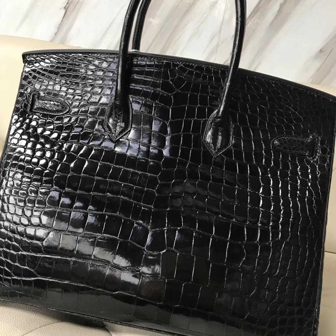 香港觀塘區愛馬仕 Hong Kong Hermes Birkin 35cm 澳洲灣鱷 CK89黑色