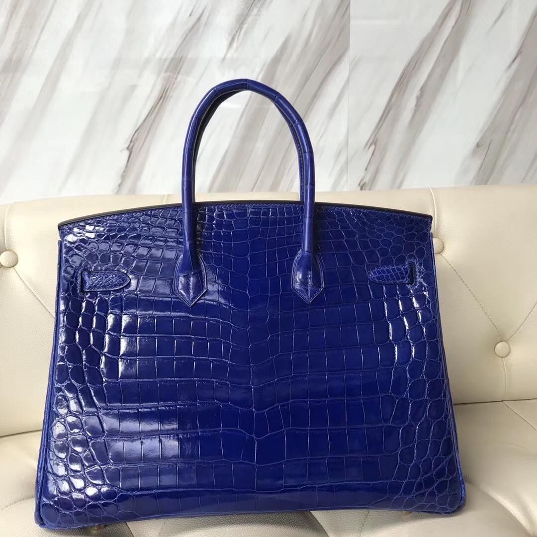 桃園市愛馬仕鉑金包 Taiwan Hermes Birkin 35cm 7T電光藍 blue electric 尼羅鱷