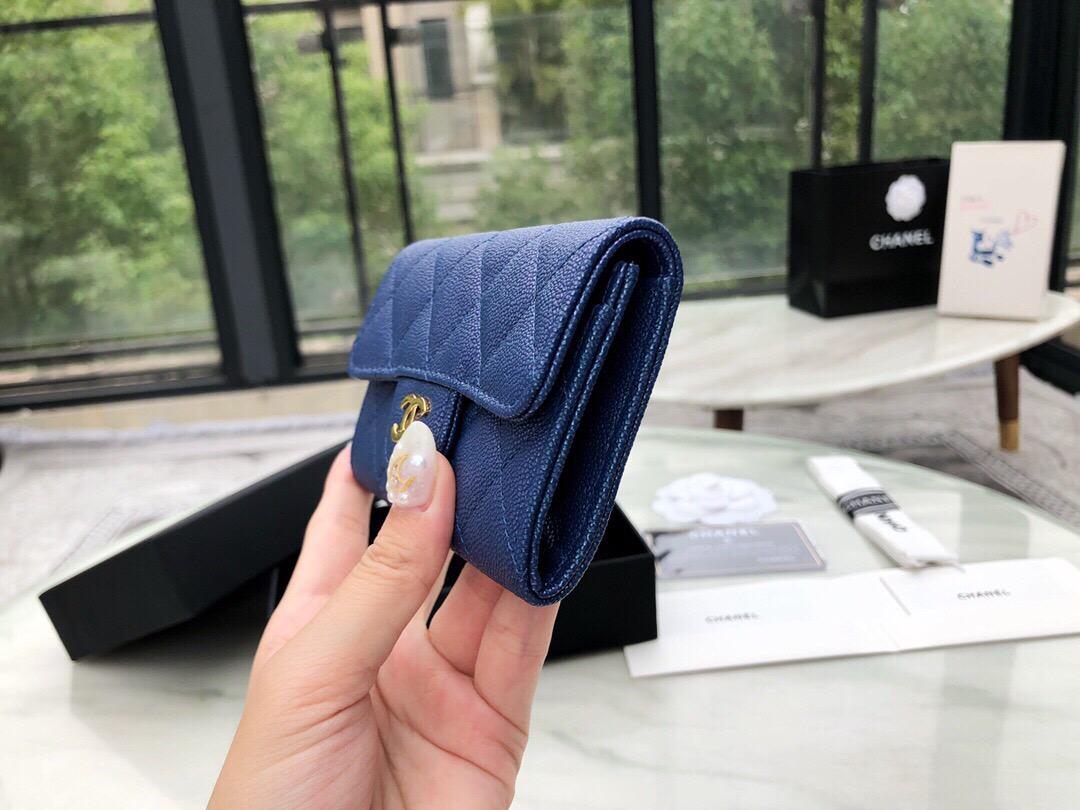 香港九龍香奈兒包包官網 卡套 珠光藍卡包 價格及圖片多少錢