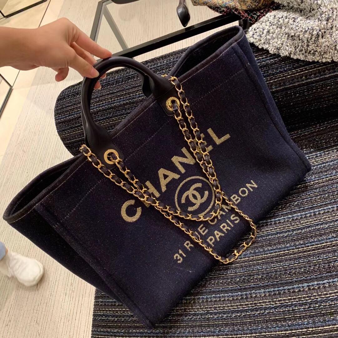 臺灣香奈兒包包 大號手提包 沙灘包 購物袋 圖片及價格