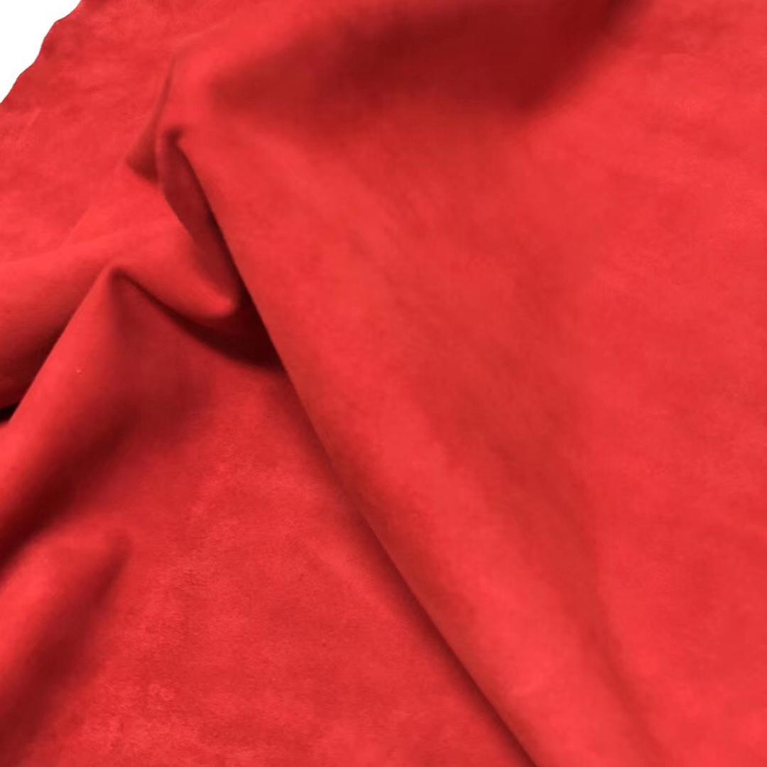 愛馬仕2019最新顏色 Hermes kelly Birkin S3心紅色 Rose de course山羊皮 鹿皮絨