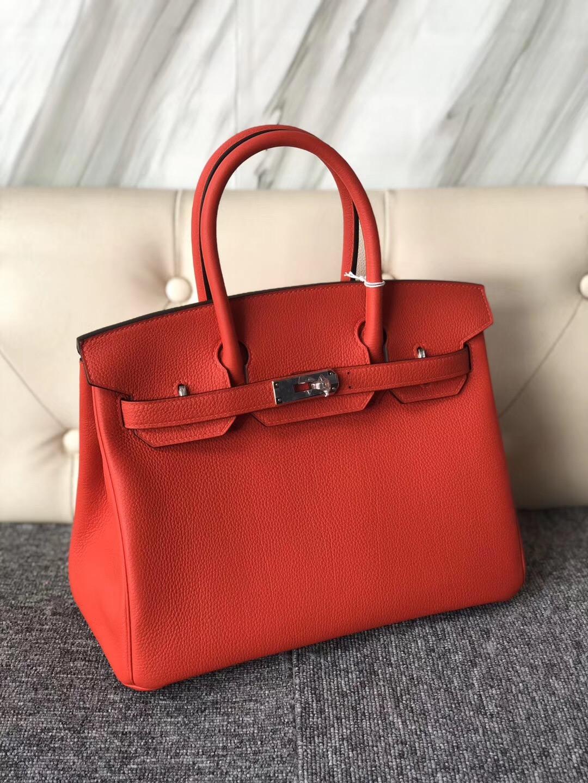 鉑金包新加坡官網 Singapore Hermes Birkin 30cm 新顏色 S3心紅色 Rose De Coeur