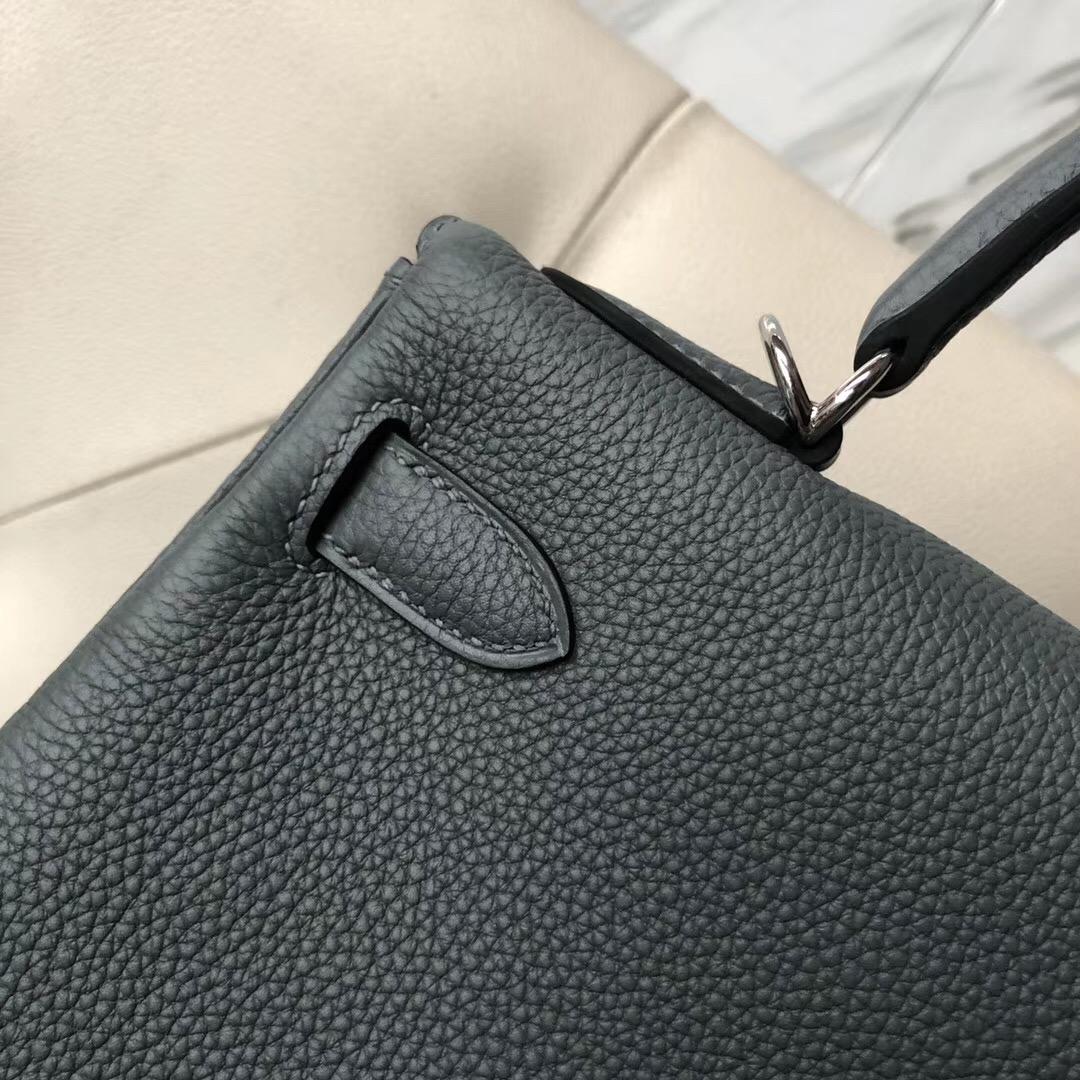 愛馬仕內縫凱莉包 Singapore Hermes Kelly 28cm togo CC63杏綠色 Vert Amande