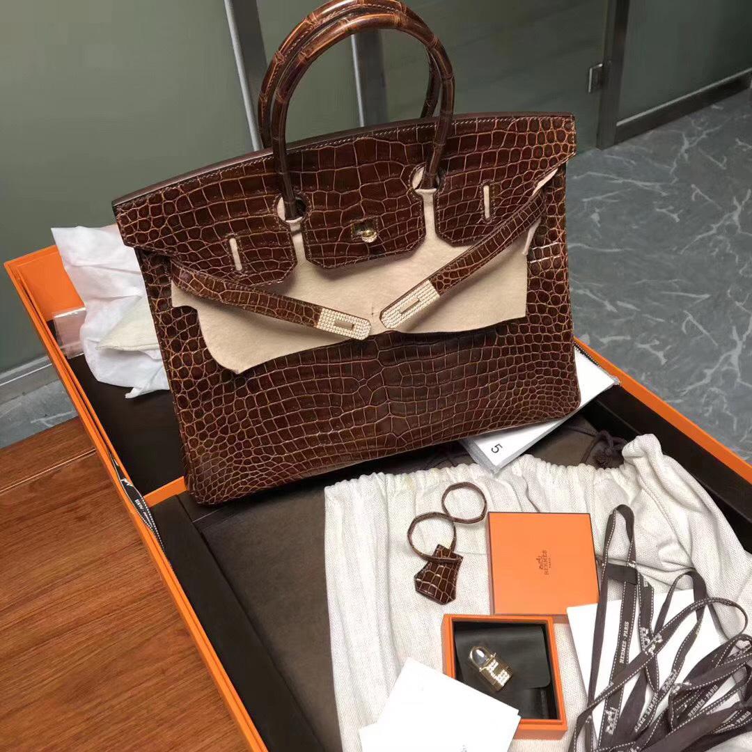 愛馬仕鉑金包 Hong Kong Hermes Birkin 30cm 鑲鉆 真鉆