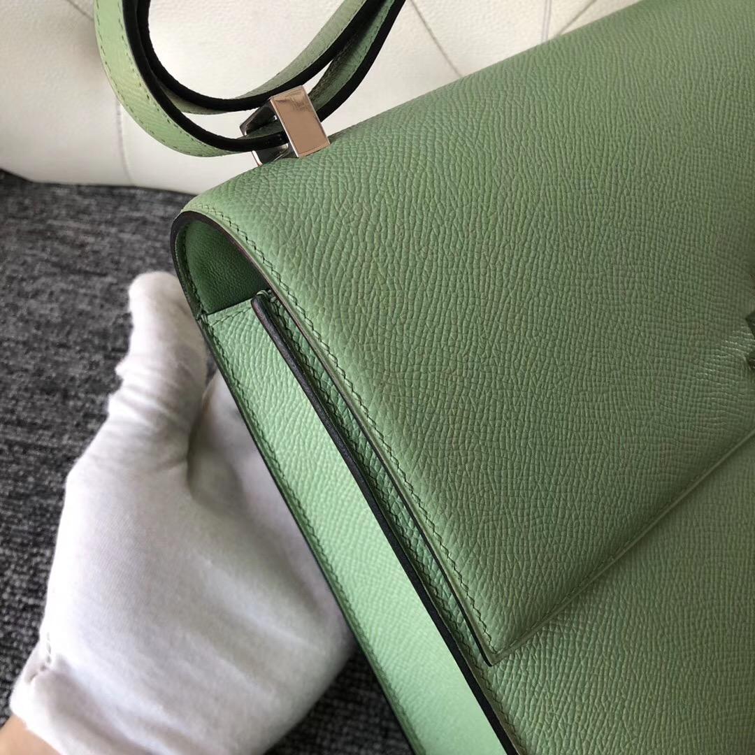 臺灣臺北市 愛馬仕 插銷包 Hermes Verrou 21cm 3I牛油果綠Vert Criquet 蟋蟀綠