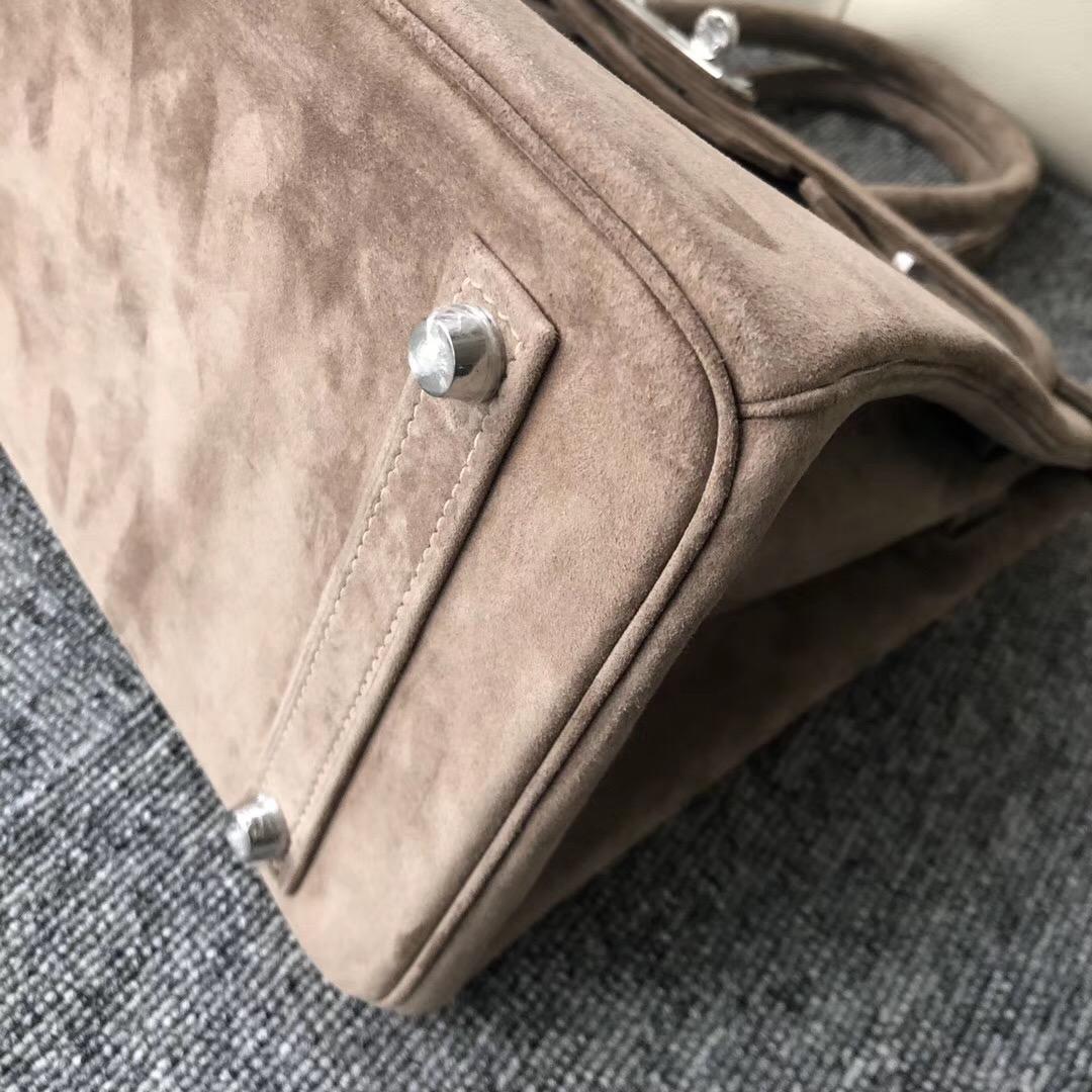 香港深水埗區愛馬仕麂皮鉑金包Hong Kong Hermes Birkin 30cm 羊皮反絨 麂皮