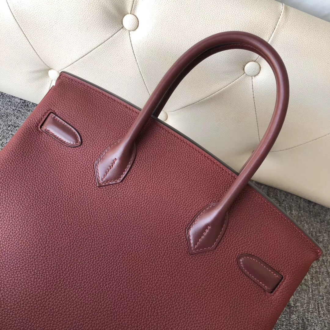 Hong Kong Hermes Birkin 30cm Togo皮/Box皮 CK55愛馬仕紅 Rouge H