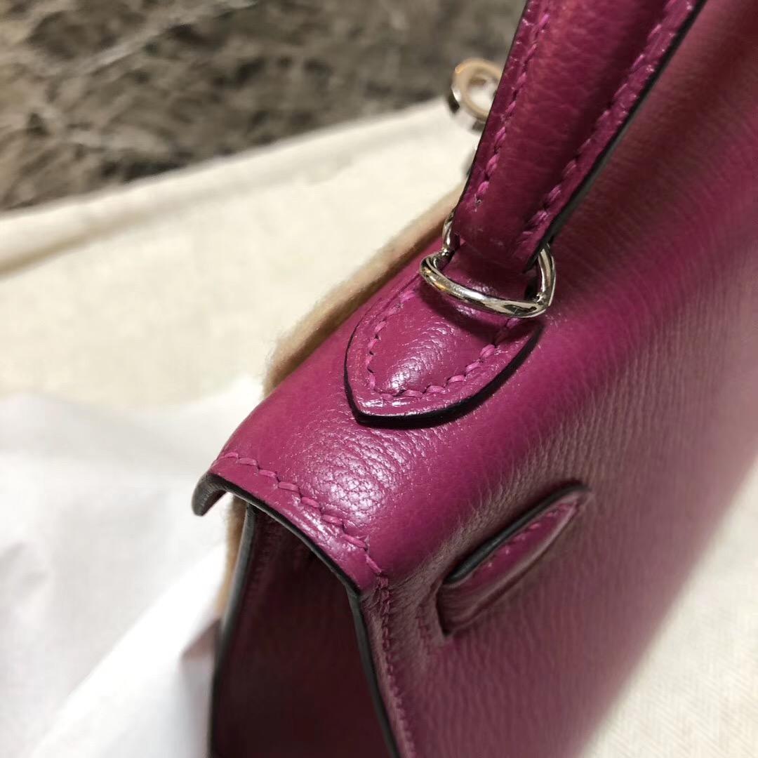 越南愛馬仕專賣店地址 Hermes Kelly Mini 2代 Chevre L3玫瑰紫 Rose Purple