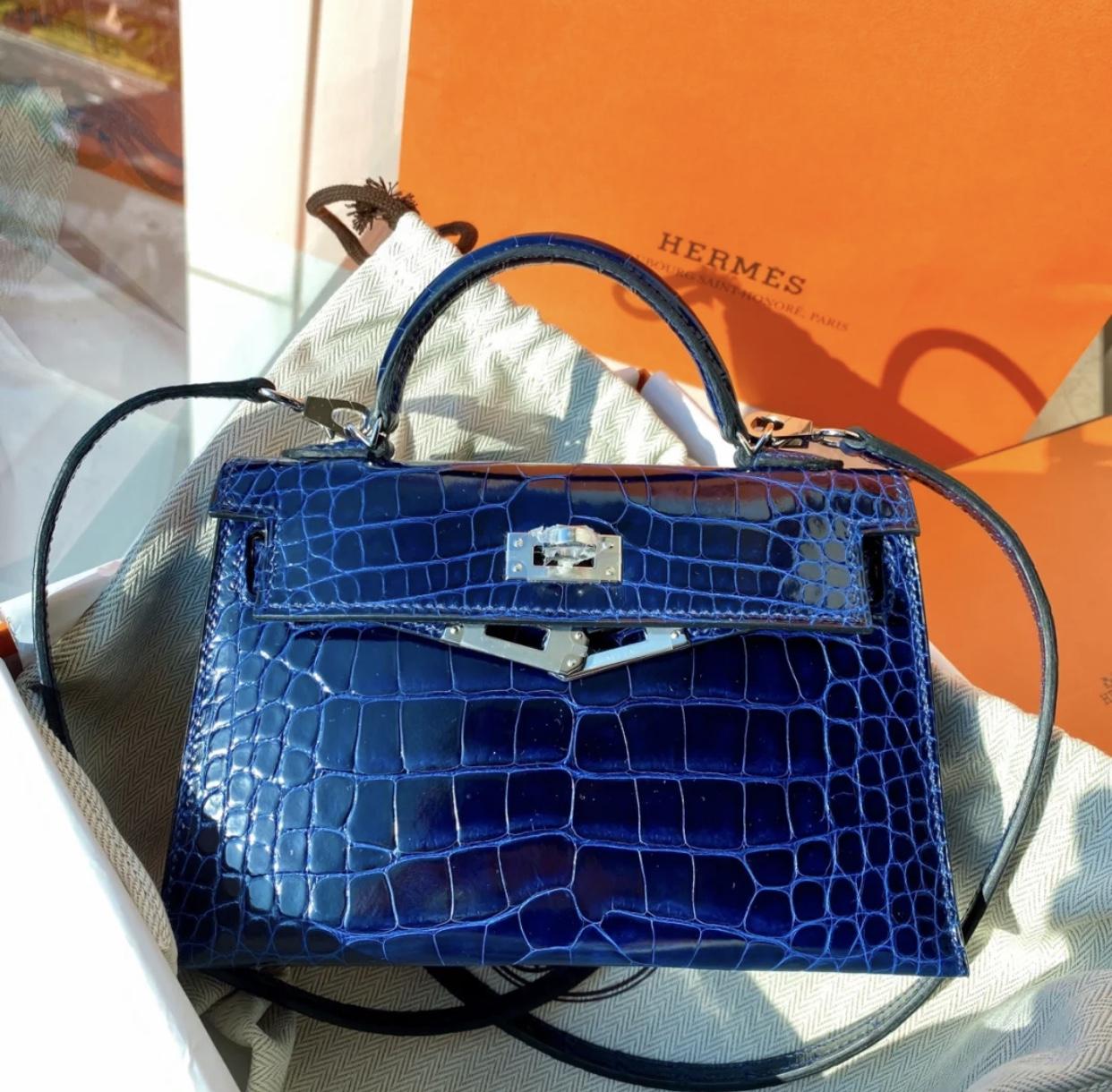愛馬仕Hermes kelly mini二代 CK73寶石藍 Blue Sapphire 價格 報價行情