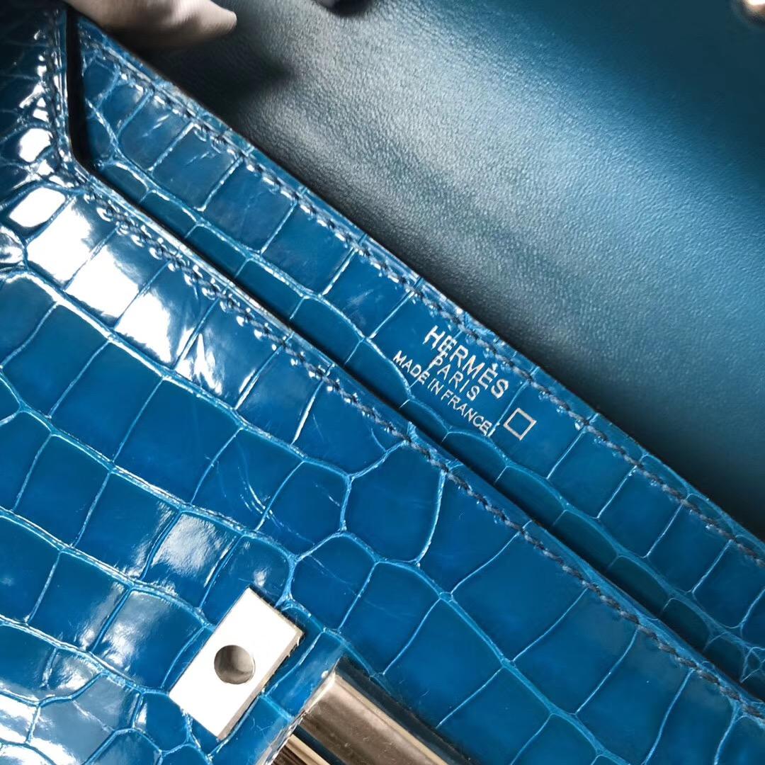 香港九龍塘 石澳愛馬仕手槍包 Hermes Verrou 17.5cm 7W伊茲密爾藍 Blue izmir