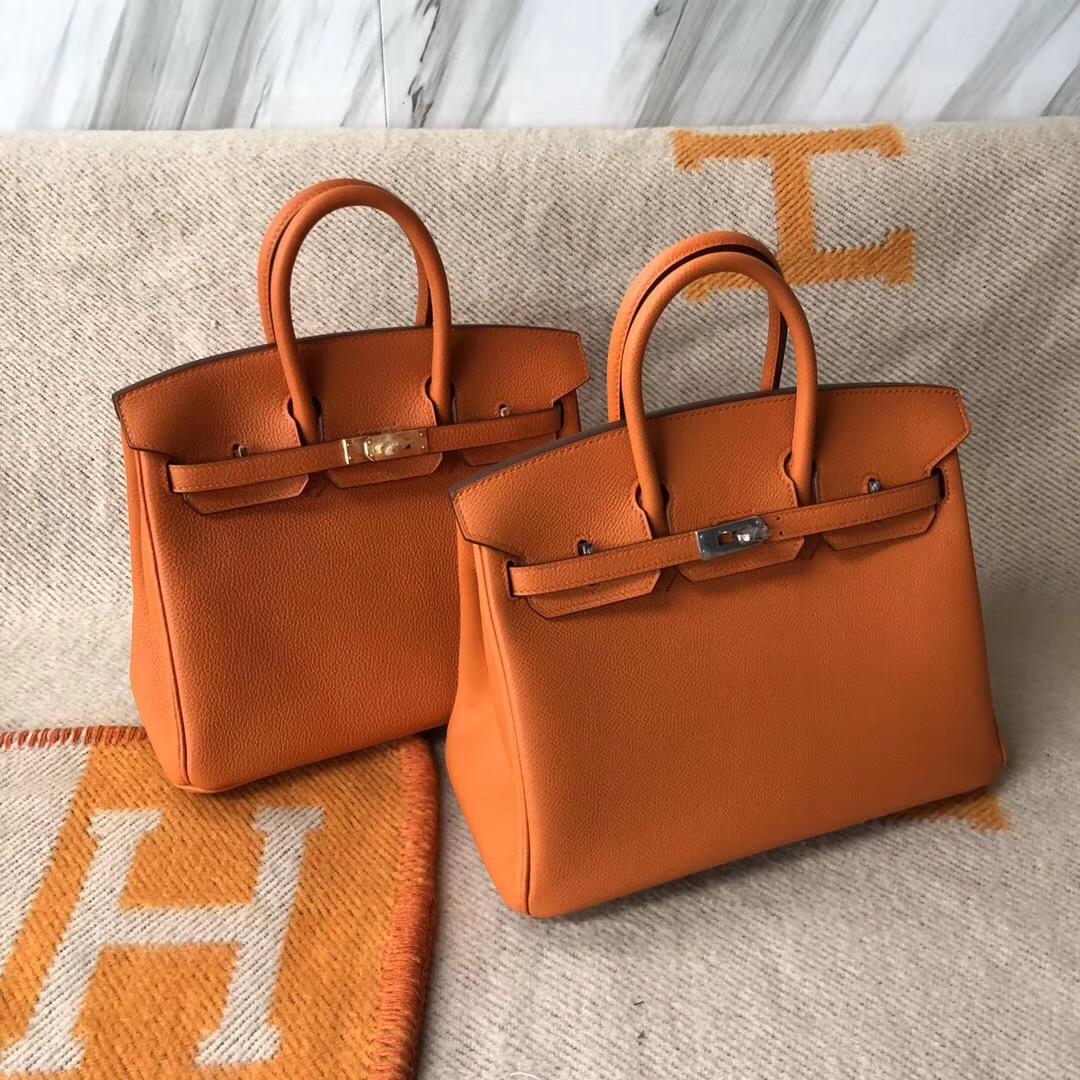 Hermes Birkin 25cm 愛馬仕 Hermes Kelly 25cm 28cm CK93橙色 Orange