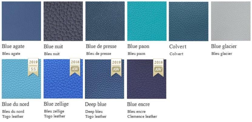 愛馬仕2019新色色號 P3北方藍 30深藍色 W0博斯普魯斯綠 D0威瑪犬米