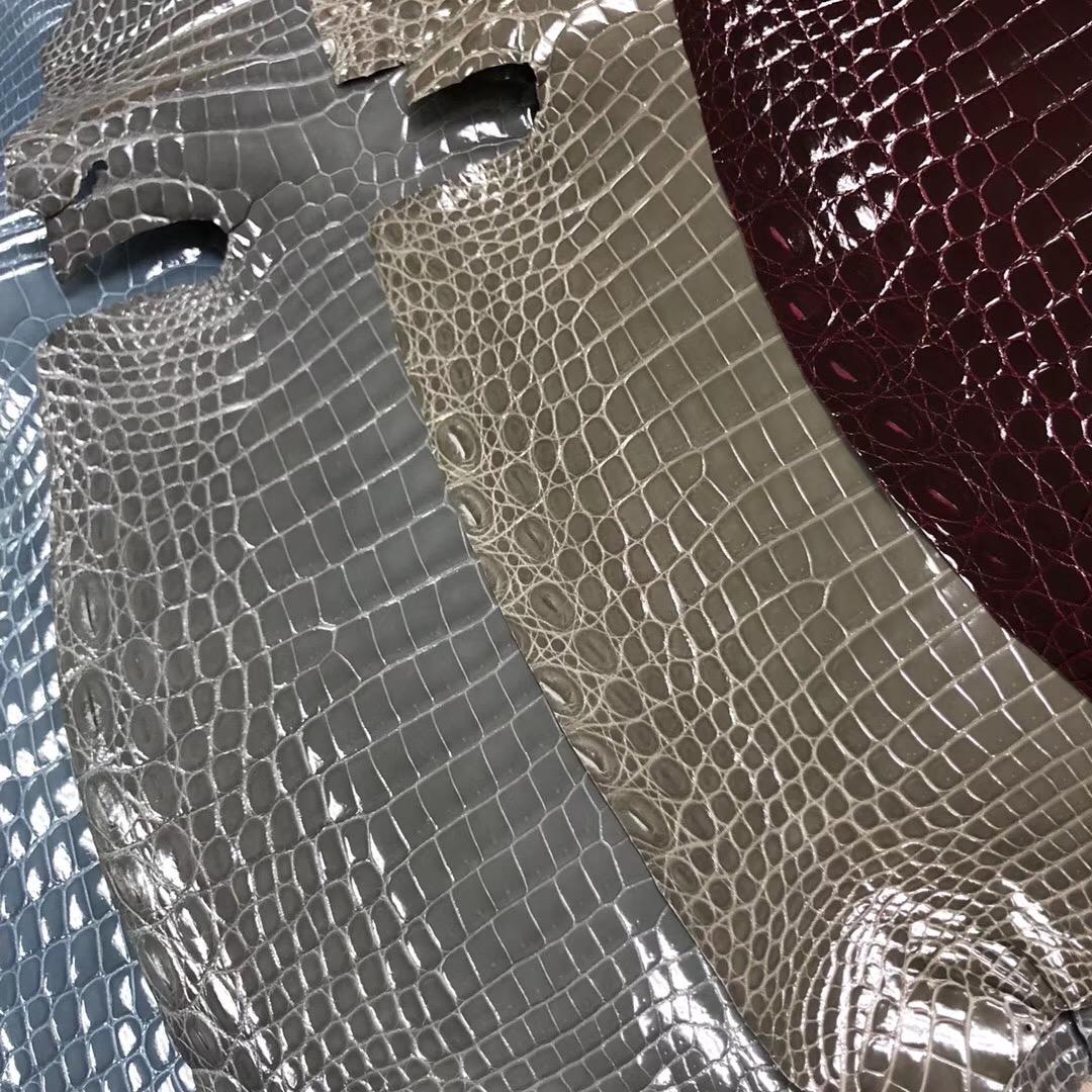愛馬仕皮革全解讀 Hermes 供珠尼羅鱷 1P鴨子藍 CK18大象灰 8U冰川藍