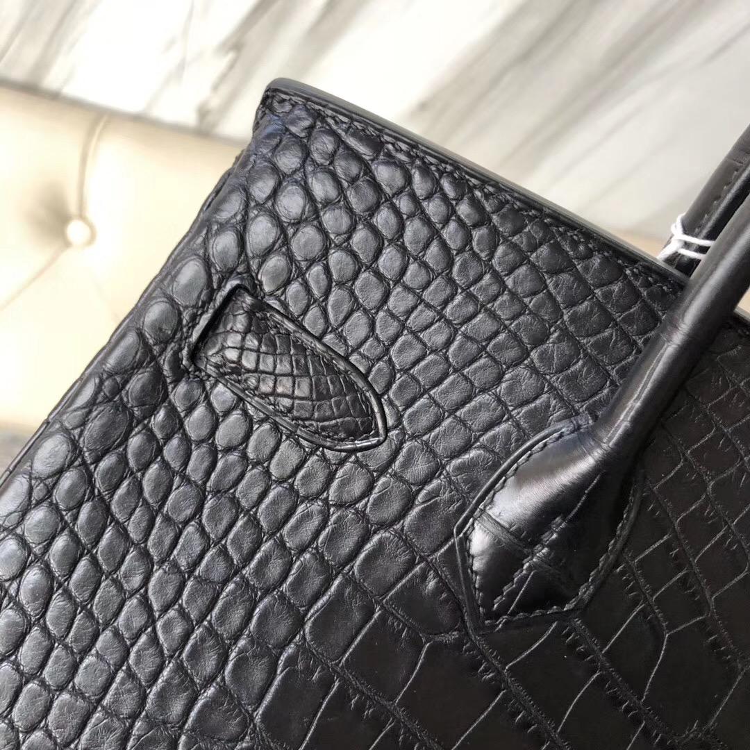 澳門半島花地瑪堂區 Hermes Birkin 30cm 霧面美洲鱷 ck89黑色 Noir