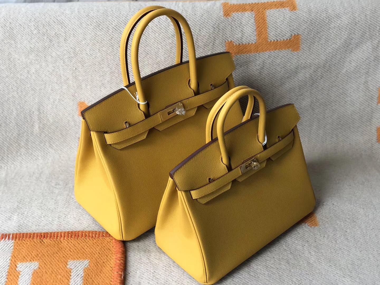 澳門大堂區愛馬仕鉑金包 Macao Hermes Birkin25 30cm 9D琥珀黃 Amber