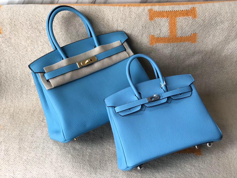 香港島鉑金包價格 Hermes Birkin25cm 30cm P3北方藍 Blue de nord 對比圖