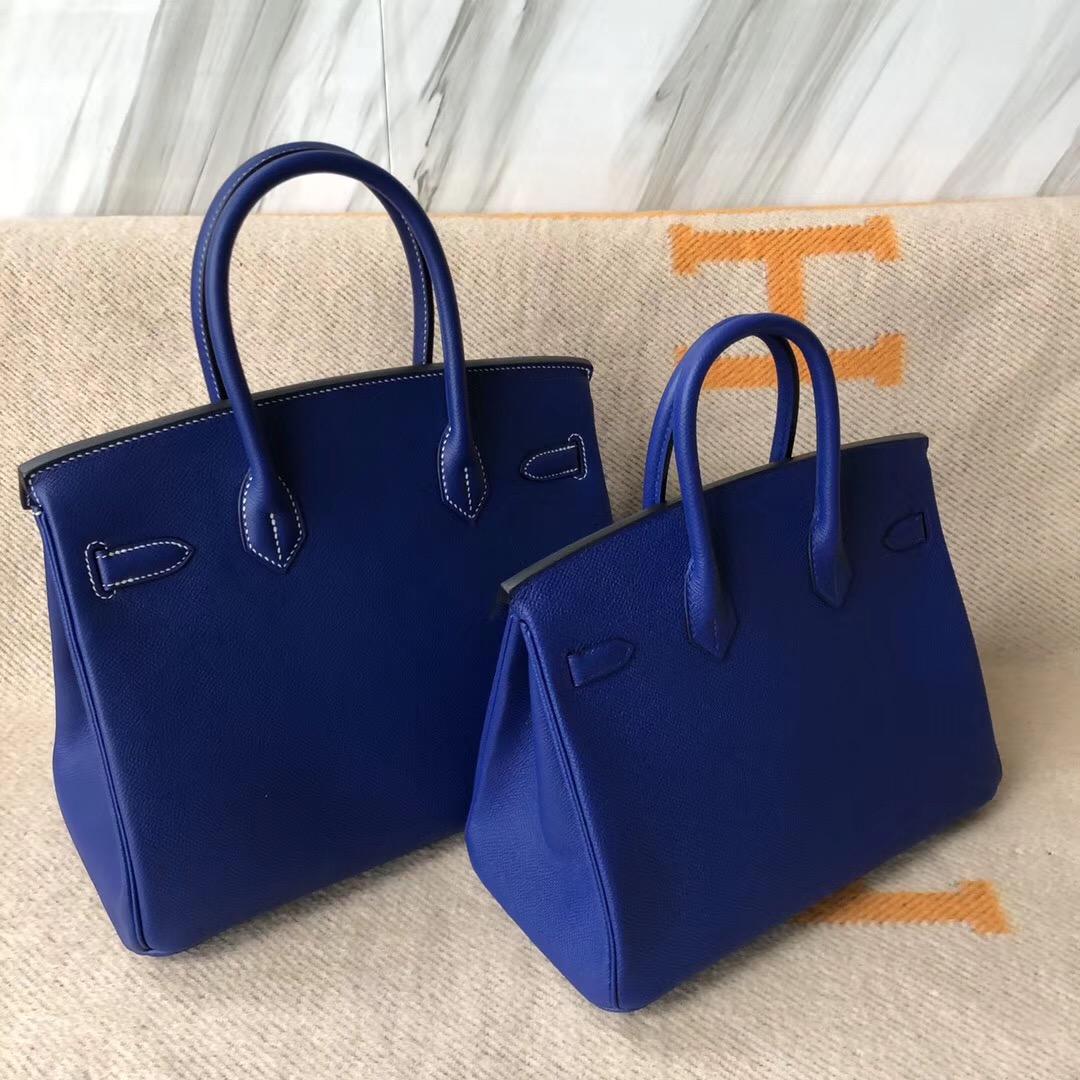 愛馬仕鉑金包哪個顏色最好看Birkin25 30cm 7T電光藍 Blue electric
