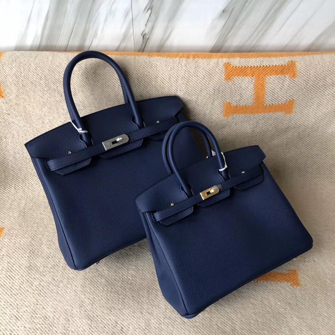 愛馬仕鉑金包什麼顏色最經典 Hermes Birkin25 30cm CK75 寶石藍 Blue sapphire
