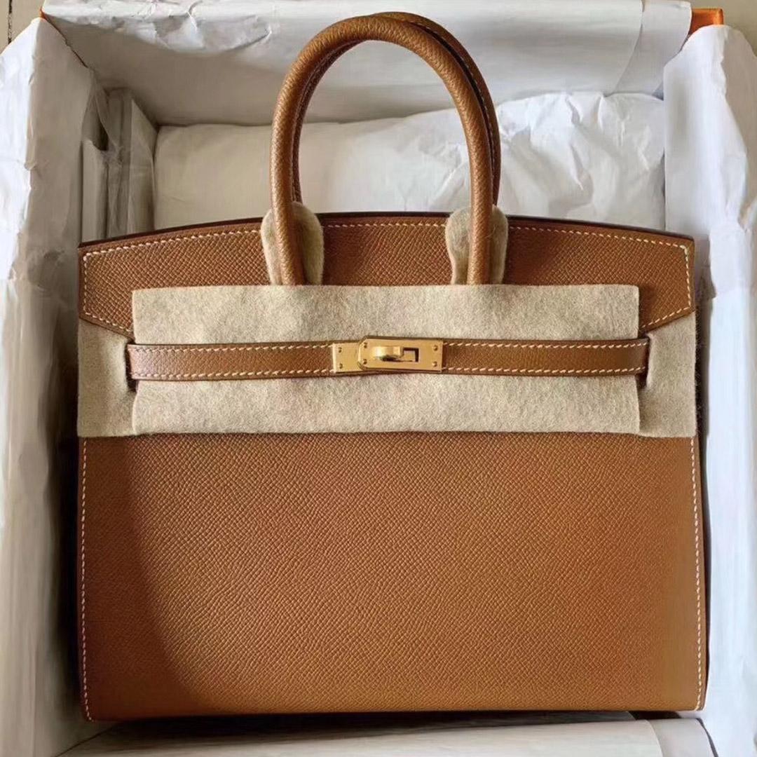 香港中西區 愛馬仕外縫鉑金包 Hermes Birkin 25cm ck37金棕色 gold