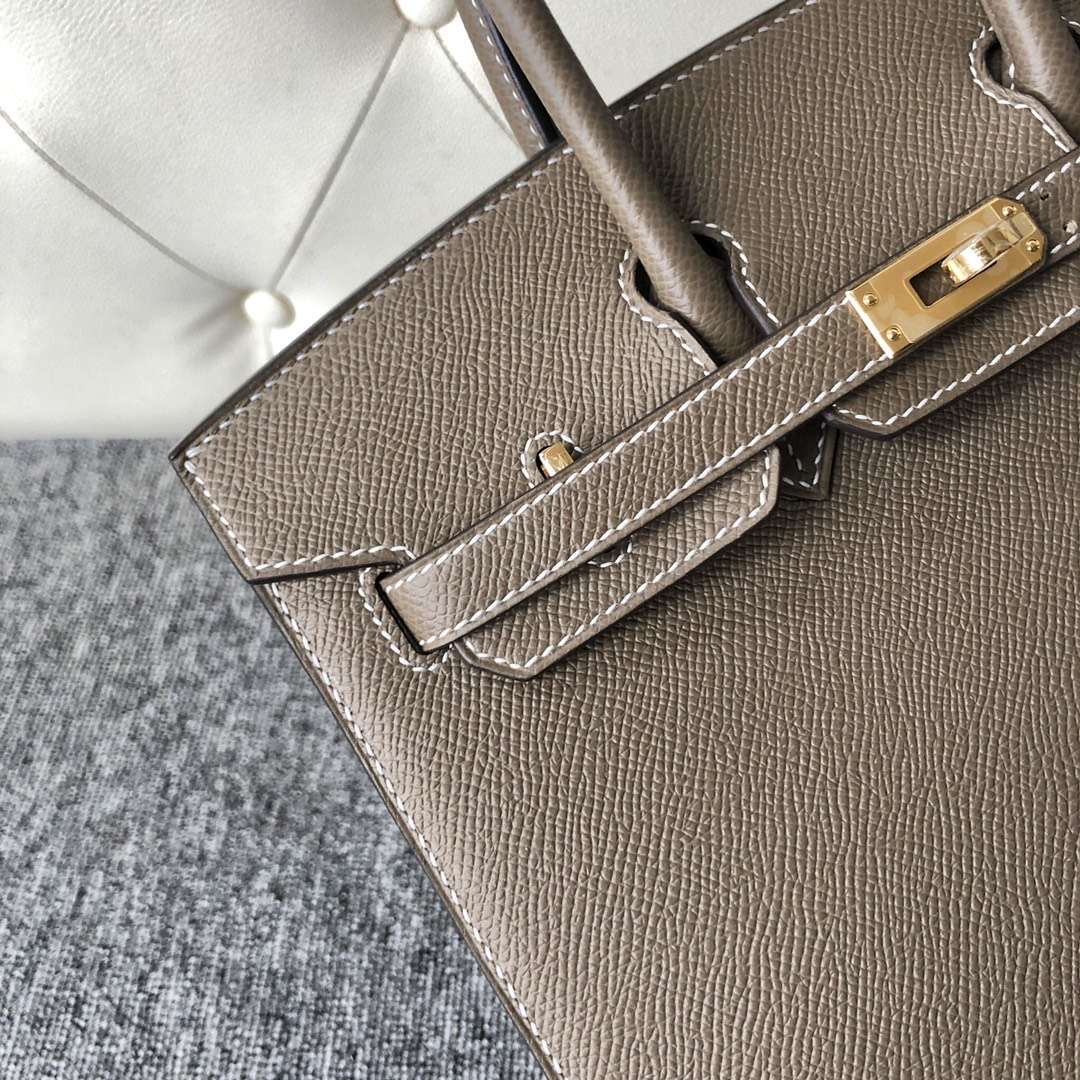 香港灣仔區 愛馬仕 外縫鉑金包價格 Hermes Birkin 25cm CK18大象灰Etoupe