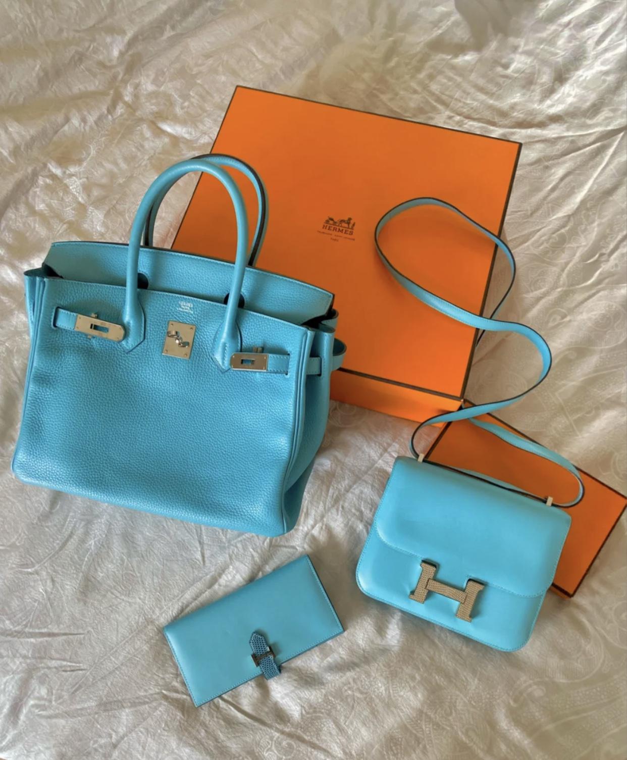 愛馬仕birkin30專櫃價格多少錢 Hermes Birkin 30cm 3P馬卡龍藍 Blue Atoll