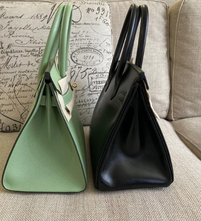 愛馬仕外縫鉑金包 Hermes Birkin 30cm 3I牛油果綠Vert Criquet 蟋蟀綠