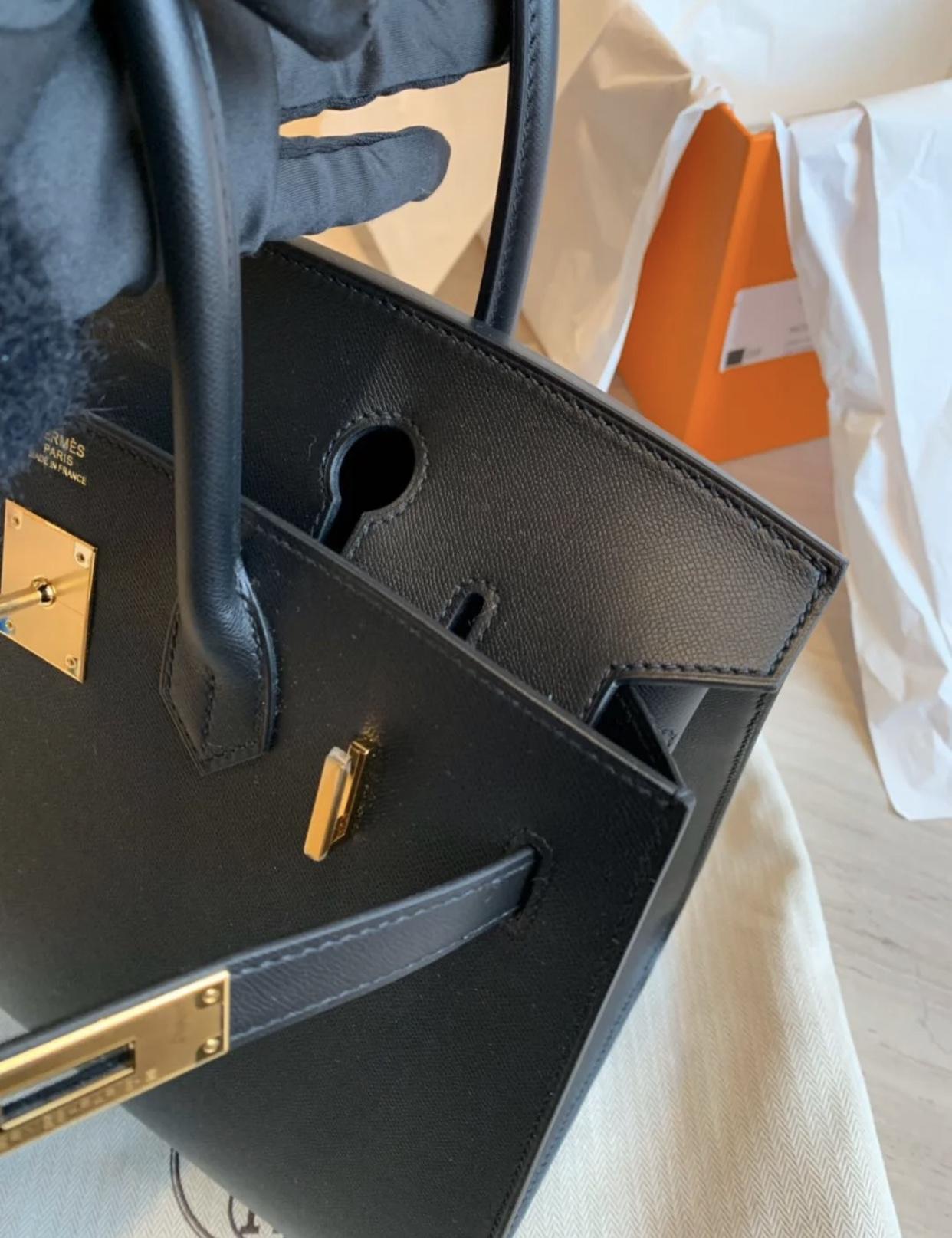 香港愛馬仕 外縫鉑金包 多少錢 Hermes Birkin 30cm Graine Monsieur