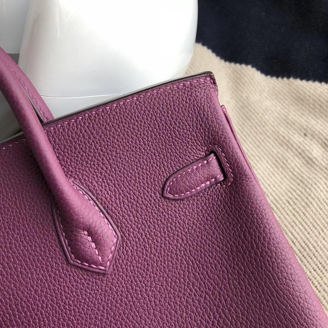 香港西貢區愛馬仕 Hong Kong Hermes Birkin 25cm togo P9海葵紫 Anemone