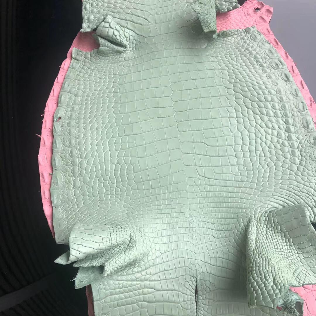 愛馬仕柏金包 Hermes Birkin 30cm 霧面美洲鱷 6u vert d'eau 新薄荷綠