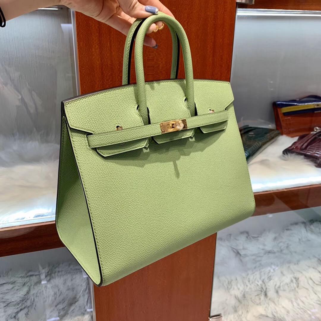 香港九龍半島 外縫鉑金包價格 Hermes Birkin 25cm 3I牛油果綠 Vert Criquet 蟋蟀綠